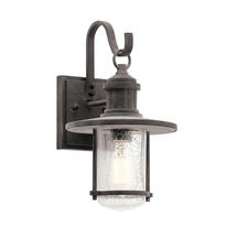 Riverwood Medium Wall Lantern - Weathered Zinc