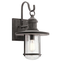 Riverwood XL Wall Lantern - Weathered Zinc