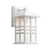 Beacon Square 1 Light Wall Lantern White - Small