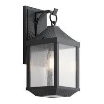 Springfield 1 Light Medium Wall Lantern Distressed Black