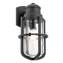 Suri 1 Light Wall Lantern Textured Black - Large