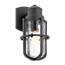 Suri 1 Light Wall Lantern Textured Black - Medium
