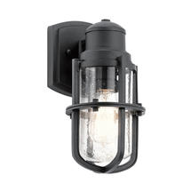 Suri 1 Light Wall Lantern Textured Black - Small