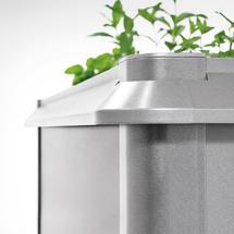Snail protection for Raised Vegetable Bed 200 x 200 metallic quartz grey