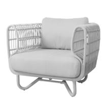 Nest Outdoor White Lounge Chair - White Cushions