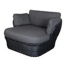 Basket Lounge Garden Chair - Graphite / Grey
