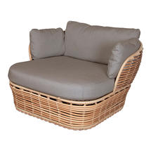 Basket Lounge Garden Chair - Natural / Taupe