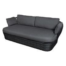 Basket 2 Seater Garden Sofa - Graphite / Grey