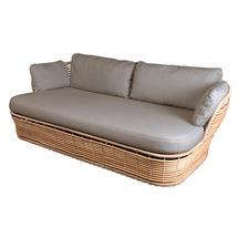 Basket 2 Seater Garden Sofa - Natural / Taupe