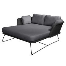 Horizon Daybed - Black with Grey Cushions.
