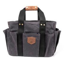 Wax Canvas Gardening Bag - Charcoal