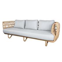 Nest Outdoor Natural 3 Seat Sofa - Light Grey Cushions