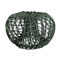 Nest Outdoor Small Footstool - Dark Green