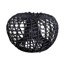 Nest Outdoor Small Footstool - Lava Grey