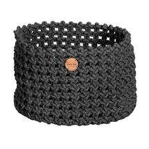 Cane-line Rope Basket Large - Dark Grey