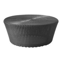 Kingston Woven Large Footstool - Graphite