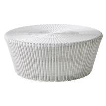 Kingston Woven Large Footstool - White Grey