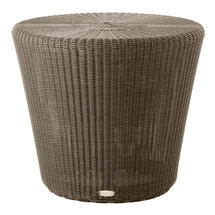 Kingston Woven Small Stool / Side Table - Mocca