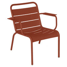Luxembourg Lounge Armchair- Red Ochre