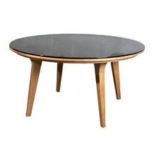 Aspect Round Dining Table Top - Smokey Black Glass