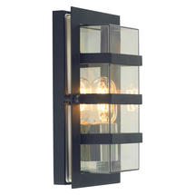 Boden Wall Lantern - Black/Clear