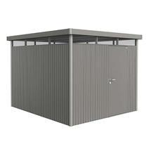 Garden shed HighLine size H5 with standard door- Metallic quartz grey