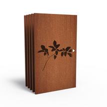 Corten Panel - Leaf - Set of 5