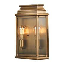 St Martins Large Wall Lantern - Aged Brass