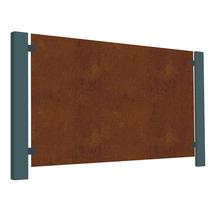 Corten Steel Terrace Screen - Blank