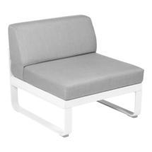 Bellevie 1 Seater Central Module - Cotton White/Flannel Grey