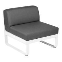 Bellevie 1 Seater Central Module - Cotton White/Graphite Grey