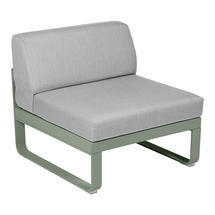 Bellevie 1 Seater Central Module - Cactus/Flannel Grey