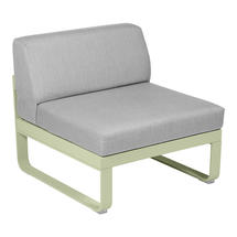 Bellevie 1 Seater Central Module - Willow Green/Flannel Grey