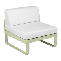 Bellevie 1 Seater Central Module - Willow Green/Off White