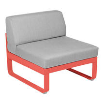 Bellevie 1 Seater Central Module - Capucine/Flannel Grey