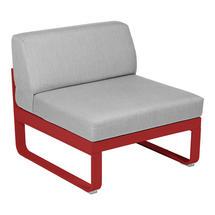 Bellevie 1 Seater Central Module - Chilli/Flannel Grey