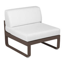 Bellevie 1 Seater Central Module - Russet/Off White