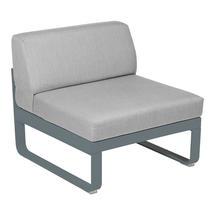 Bellevie 1 Seater Central Module - Storm Grey/Flannel Grey