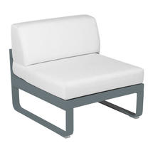 Bellevie 1 Seater Central Module - Storm Grey/Off White