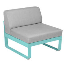 Bellevie 1 Seater Central Module - Lagoon Blue/Flannel Grey