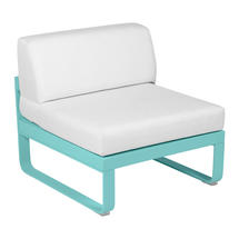 Bellevie 1 Seater Central Module - Lagoon Blue/Off White