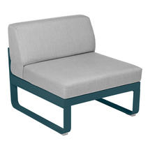 Bellevie 1 Seater Central Module - Acapulco Blue/Flannel Grey