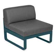 Bellevie 1 Seater Central Module - Acapulco Blue/Graphite Grey