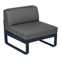 Bellevie 1 Seater Central Module - Deep Blue/Graphite Grey