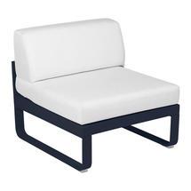 Bellevie 1 Seater Central Module - Deep Blue/Off White