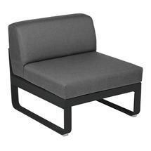 Bellevie 1 Seater Central Module - Liquorice/Graphite Grey