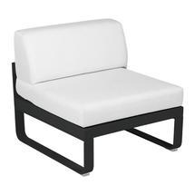 Bellevie 1 Seater Central Module - Liquorice/Off White