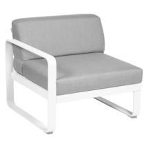 Bellevie 1 Seater Left Module - Cotton White/Flannel Grey