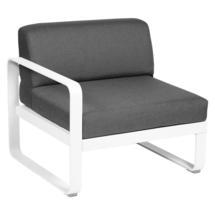 Bellevie 1 Seater Left Module - Cotton White/Graphite Grey