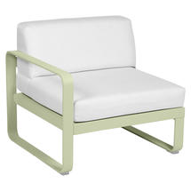 Bellevie 1 Seater Left Module - Willow Green/Off White